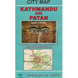 KATHMANDU AND PATAN CITY MAP - SHANGRI-LA MAPS