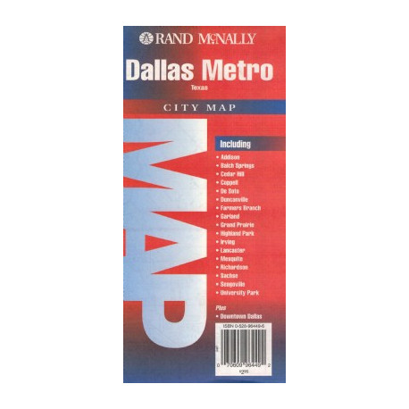 DALLAS METRO CITY MAP RAND MCNALLY