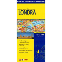 LONDON CITY MAP GEOGRAPHICAL INSTITUTE DEAGOSTINI