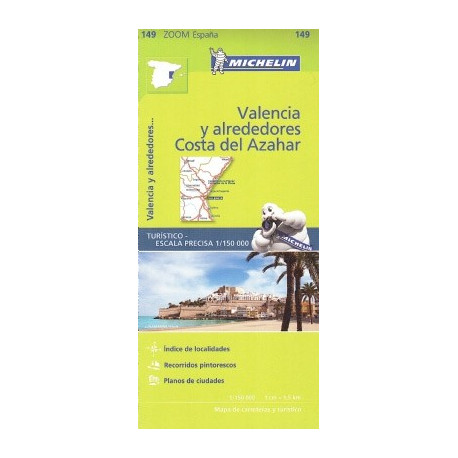 VALENCIA AND SURROUNDINGS OF THE AZAHAR MICHELIN (LANGUAGE SPANISH)