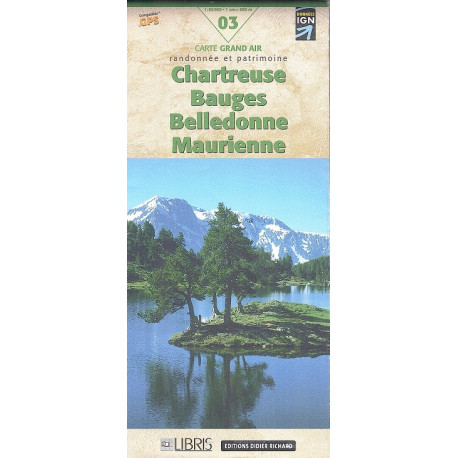 CHARTREUSE MAURIENNE - Carta D&R 03