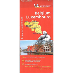 BELGIO - LUSSEMBURGO carta 716 MICHELIN