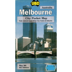 MELBOURNE CITY POCKET MAP UBD